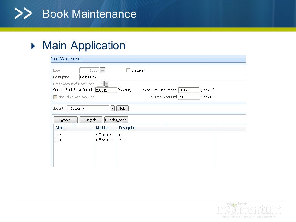 Book Maintenance Main Application