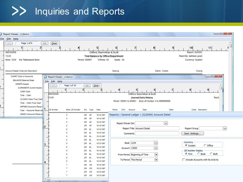 Inquiries and Reports