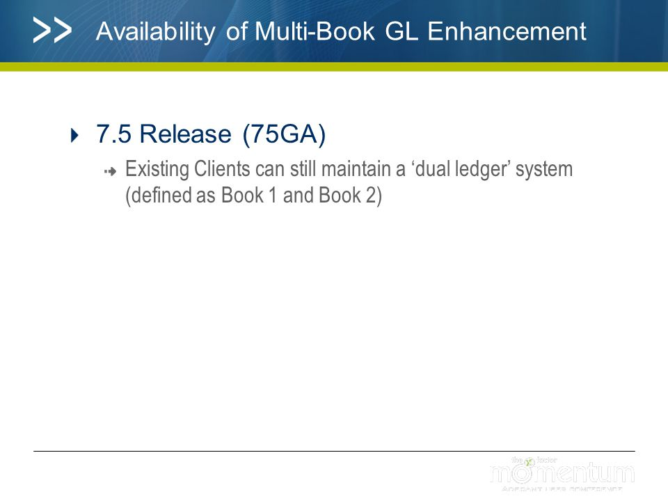 Availability of Multi-Book GL Enhancement