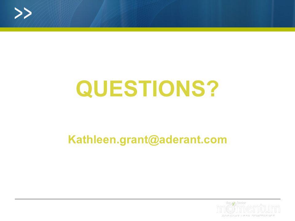 QUESTIONS Kathleen.grant@aderant.com