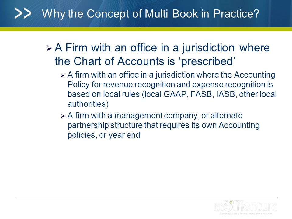 Why the Concept of Multi Book in Practice