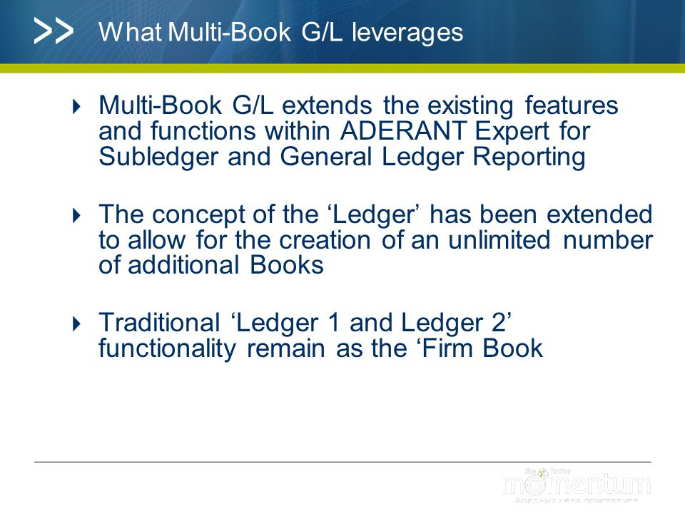 What Multi-Book G/L leverages