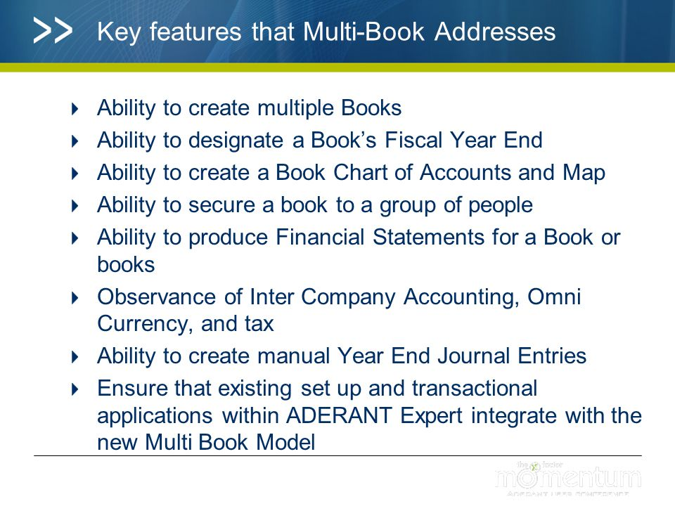 Key features that Multi-Book Addresses