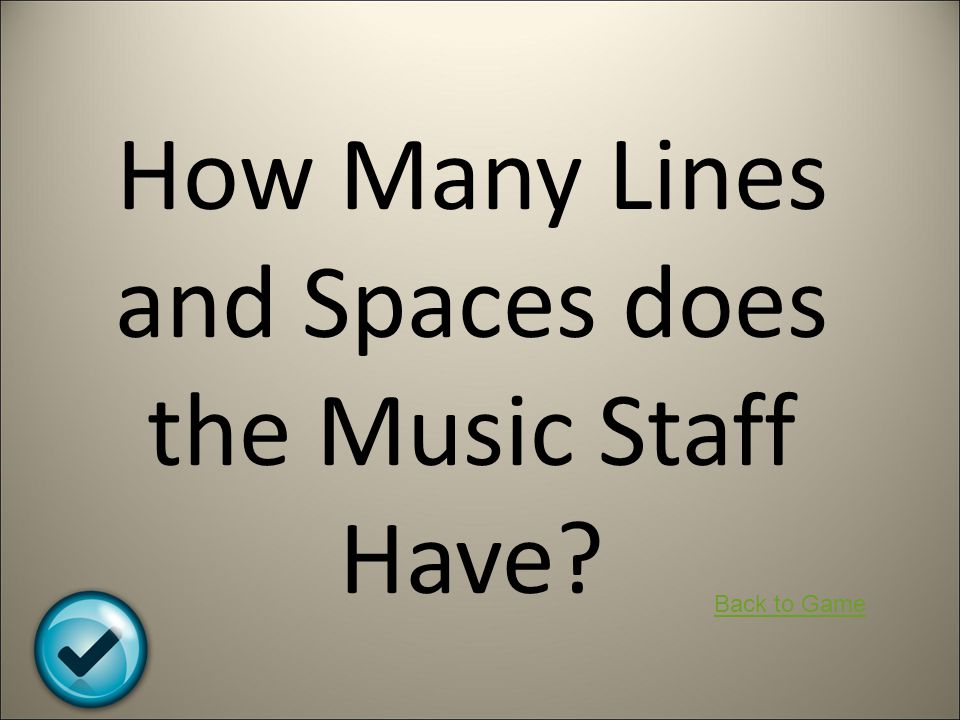 How Many Lines and Spaces does the Music Staff Have