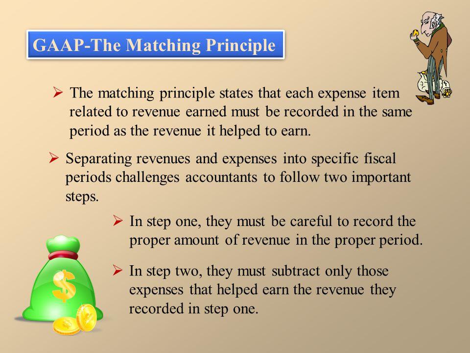GAAP-The Matching Principle