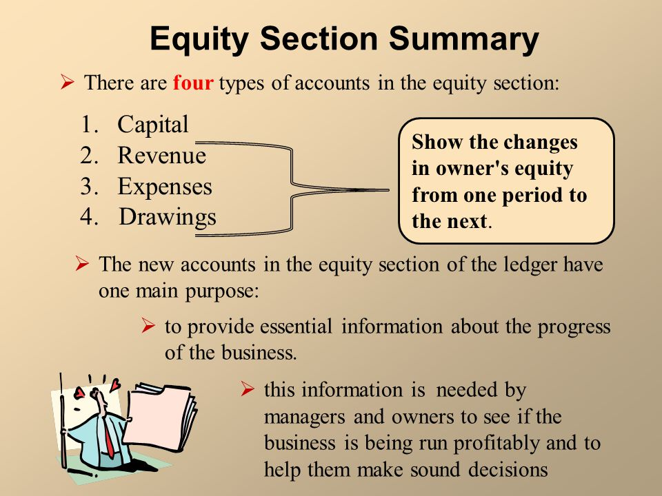 Equity Section Summary