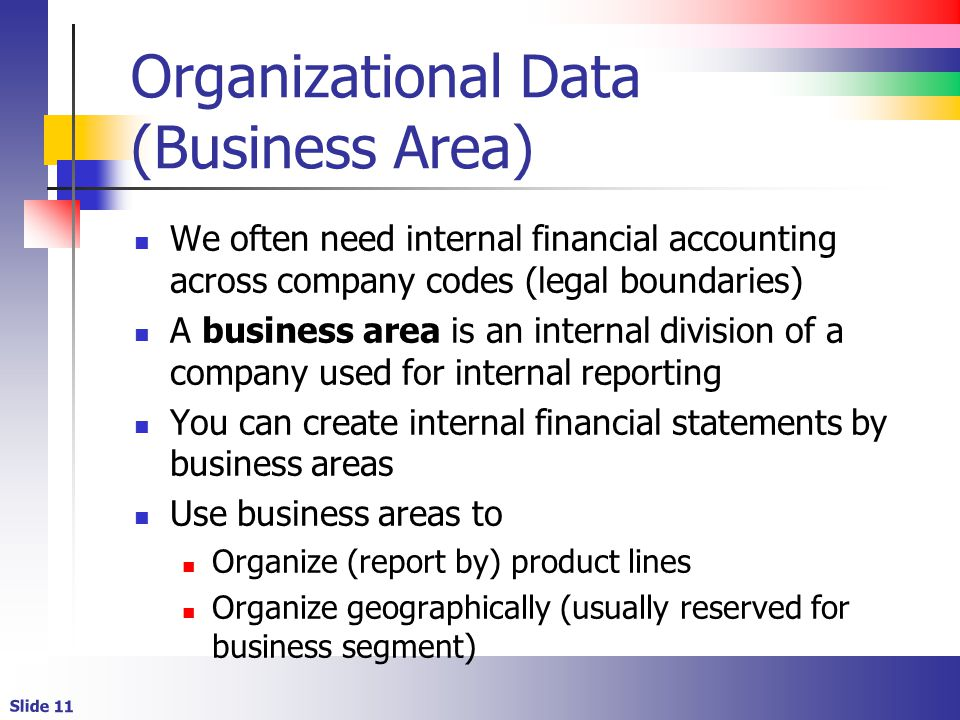Organizational Data (Business Area)
