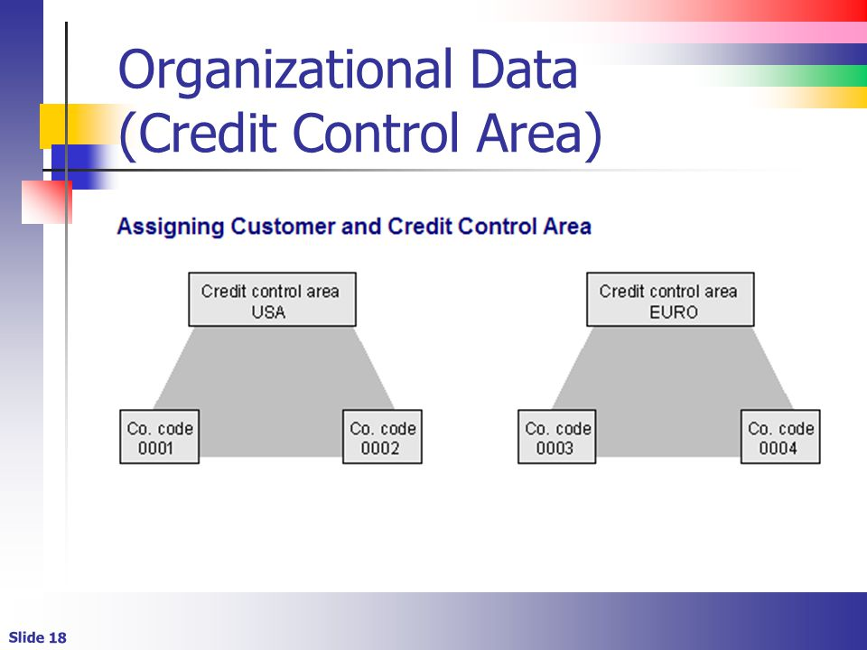 Organizational Data (Credit Control Area)