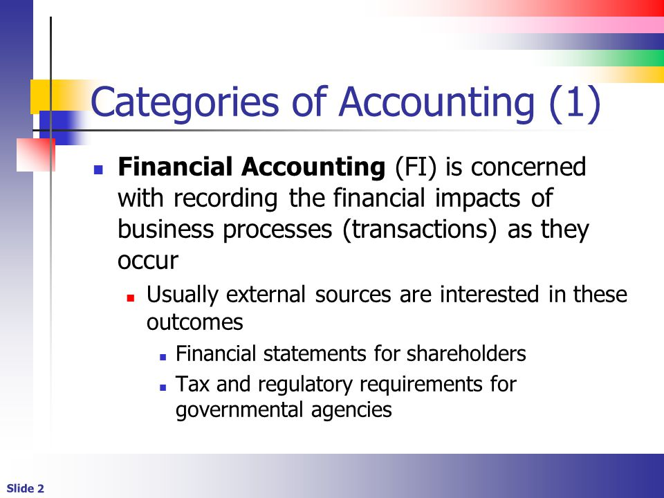 Categories of Accounting (1)