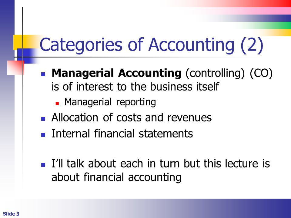 Categories of Accounting (2)