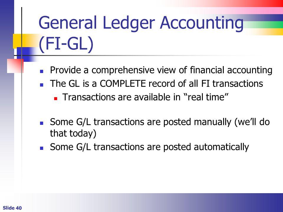 General Ledger Accounting (FI-GL)