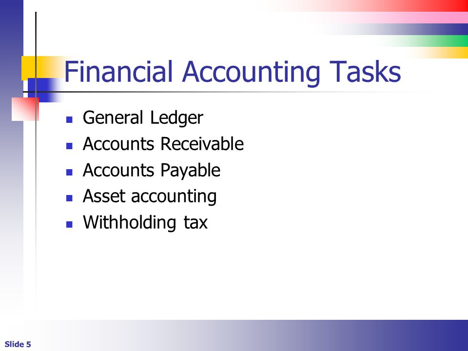 Financial Accounting Tasks