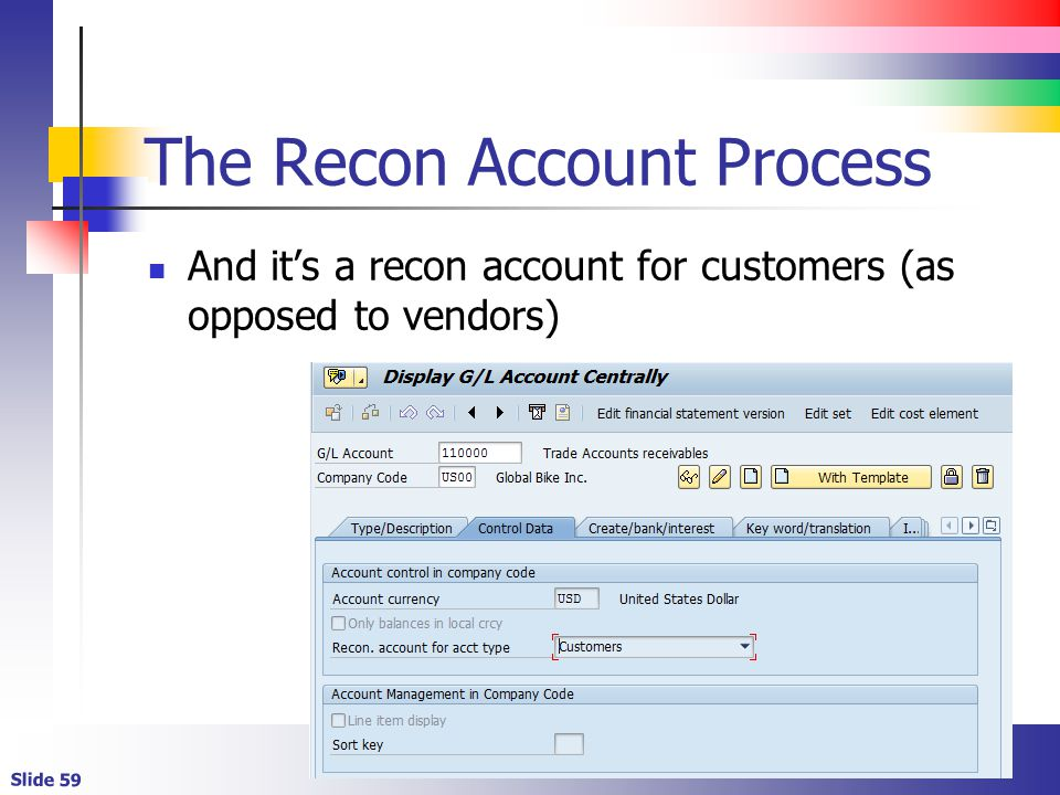 The Recon Account Process