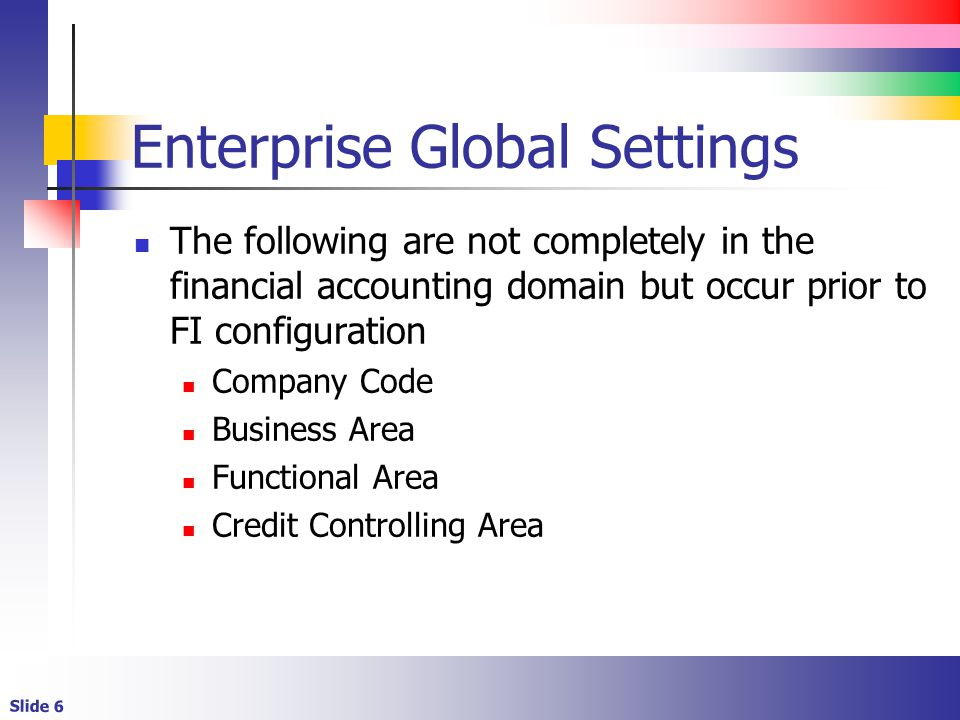 Enterprise Global Settings