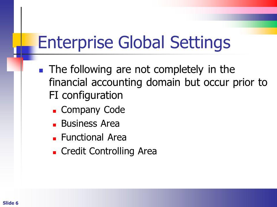 Enterprise Global Settings