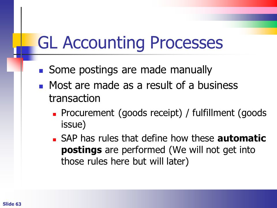 GL Accounting Processes