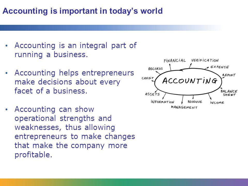 Accounting is important in today's world