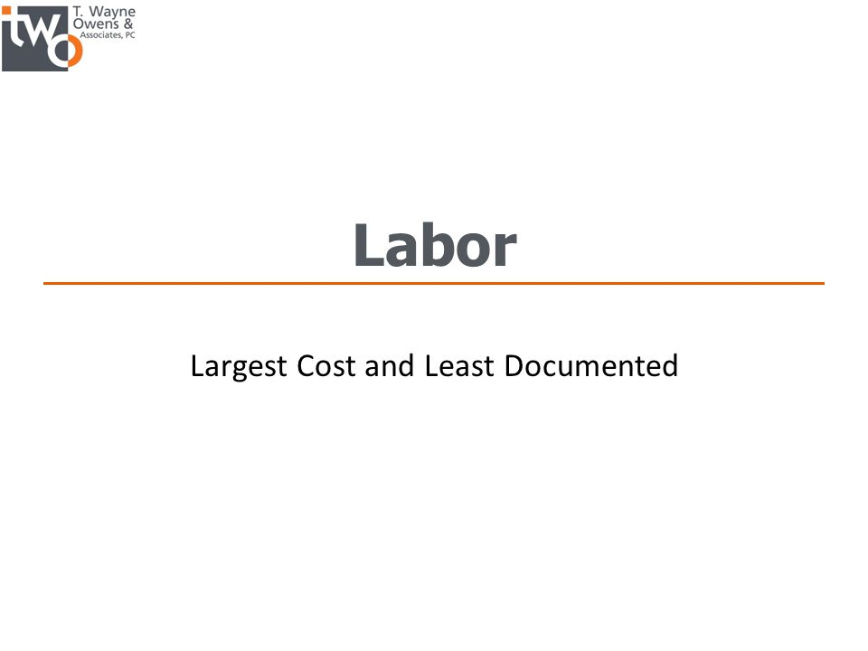 Largest Cost and Least Documented