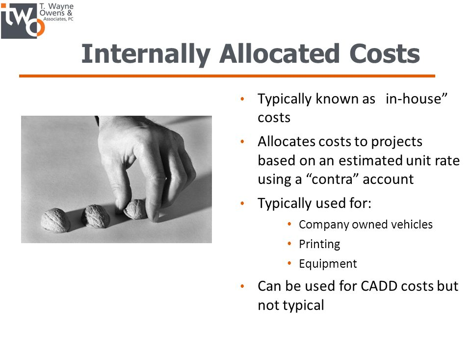 Internally Allocated Costs
