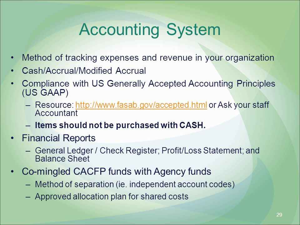Accounting System Financial Reports