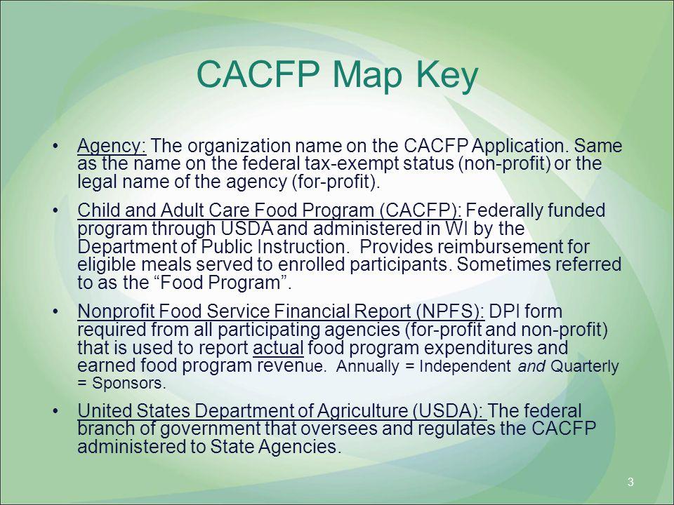 CACFP Map Key