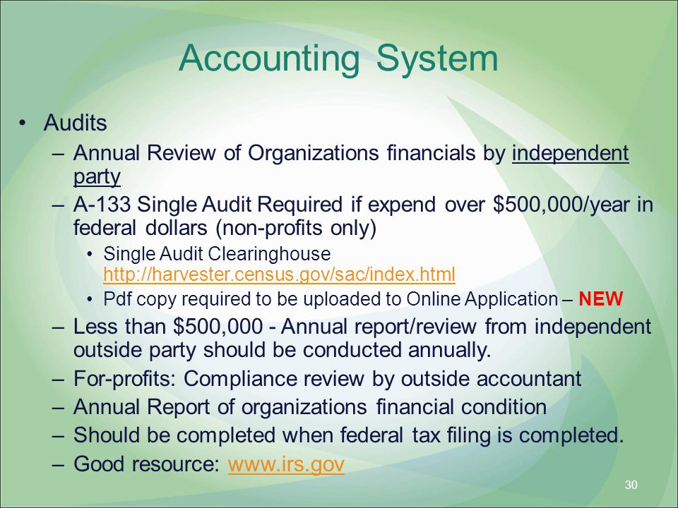 Accounting System Audits