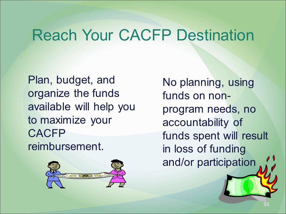 Reach Your CACFP Destination