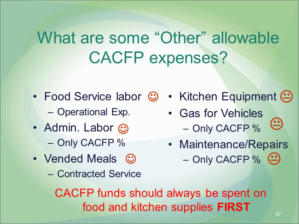 What are some Other allowable CACFP expenses