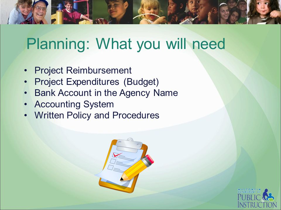 Planning: What you will need