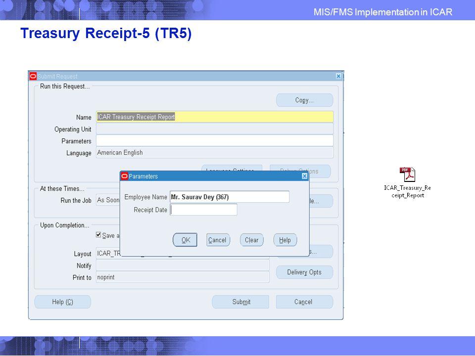 Treasury Receipt-5 (TR5)