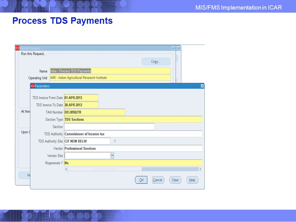 Process TDS Payments