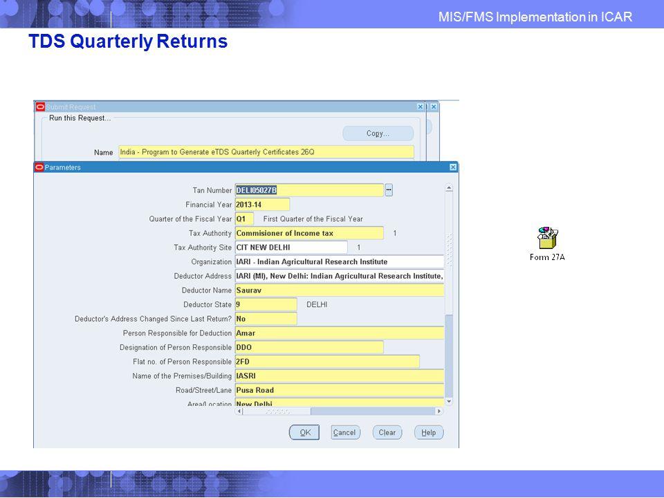 TDS Quarterly Returns
