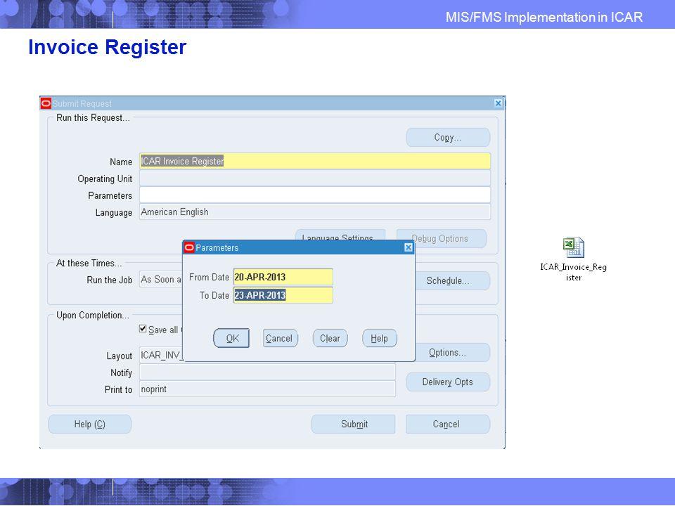 Invoice Register