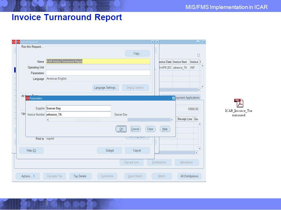 Invoice Turnaround Report