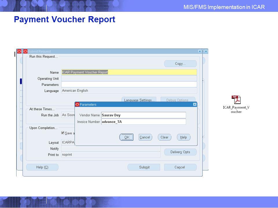 Payment Voucher Report