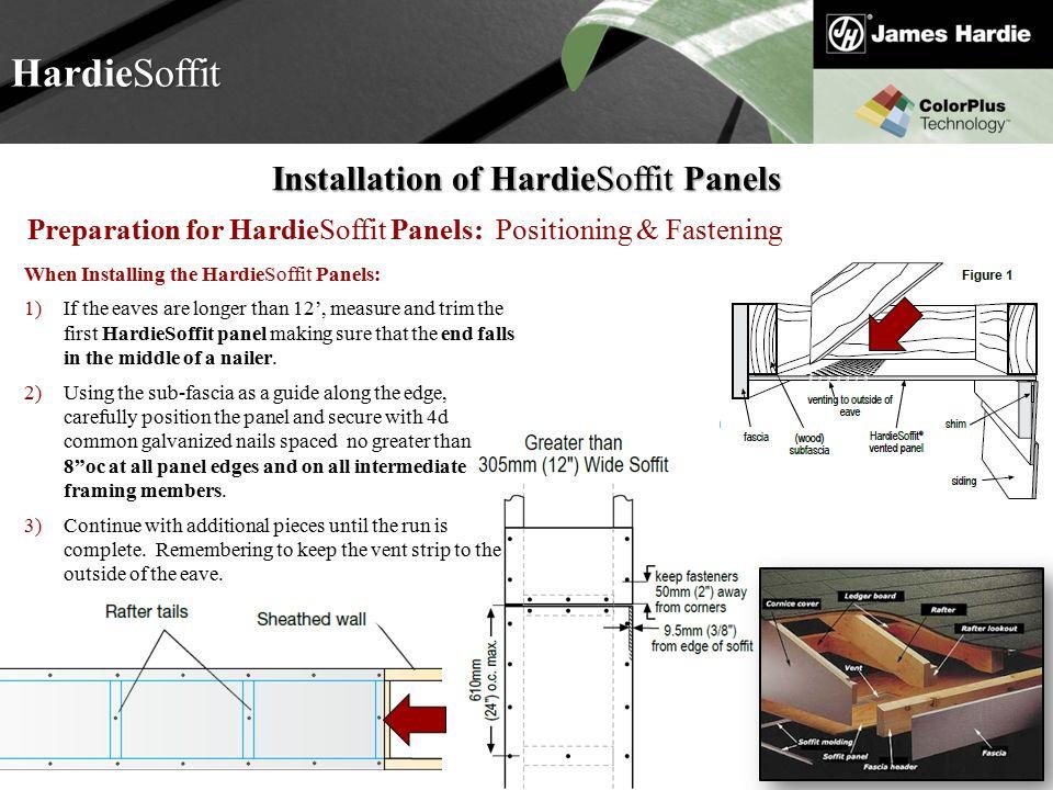 Installation of HardieSoffit Panels