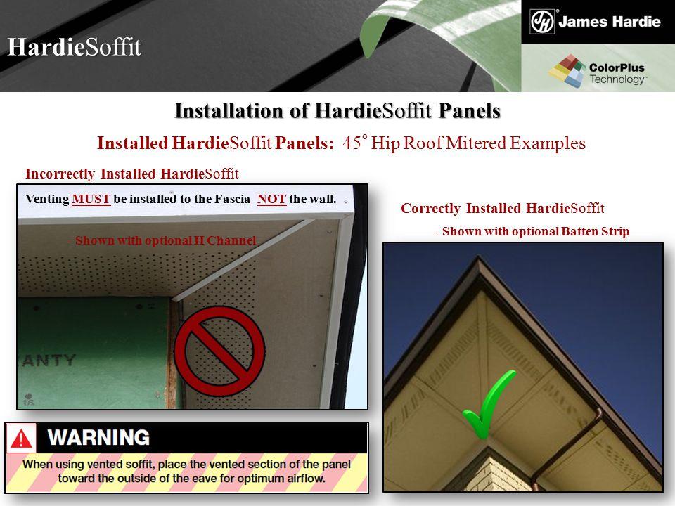 HardieSoffit Installation of HardieSoffit Panels