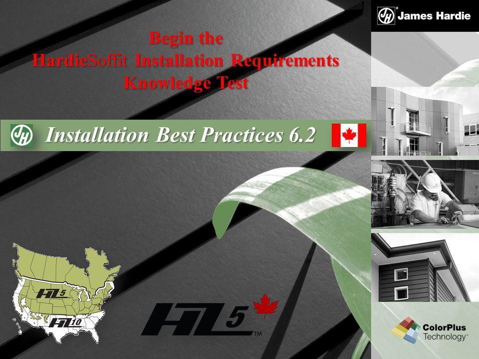 HardieSoffit Installation Requirements