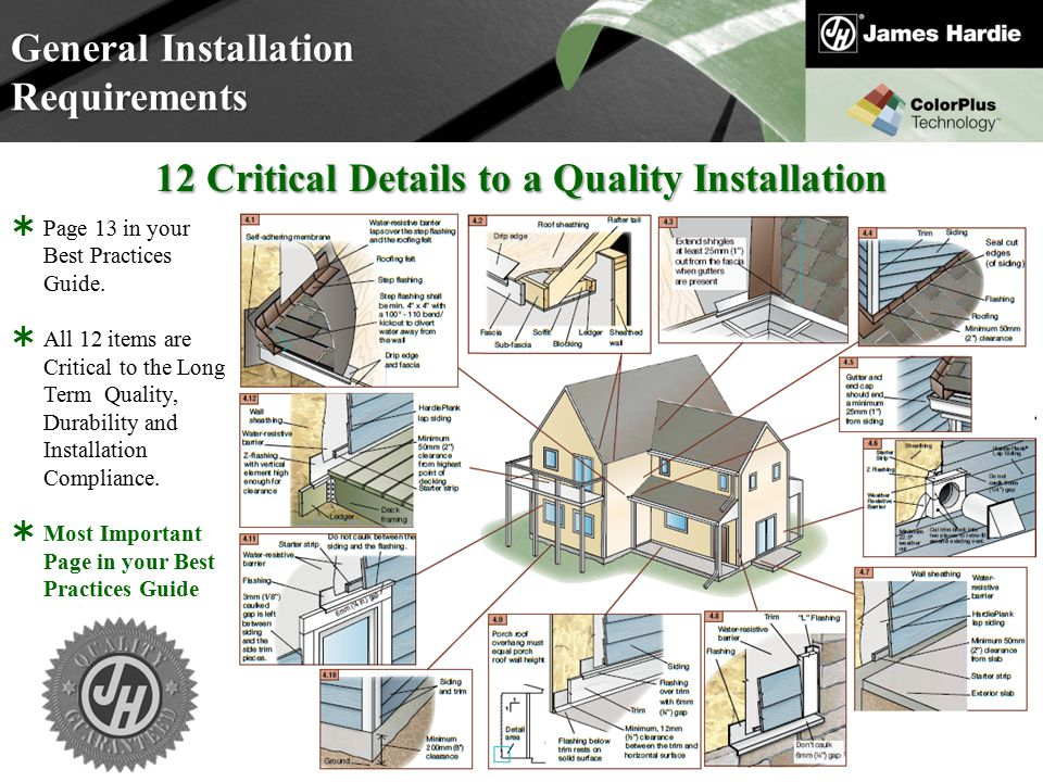 12 Critical Details to a Quality Installation