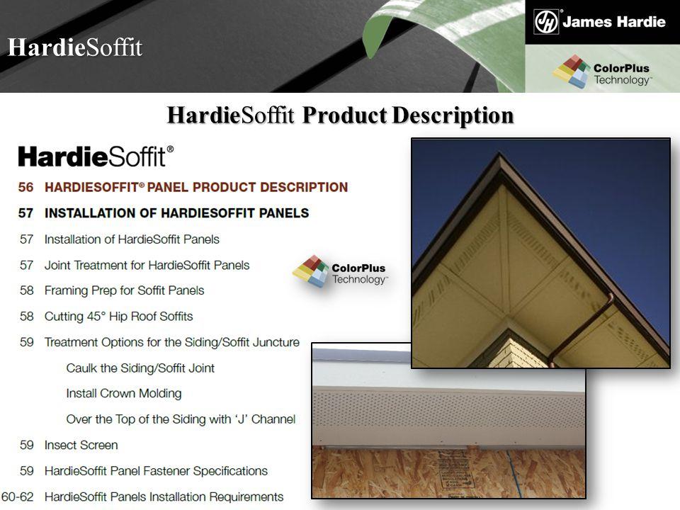 HardieSoffit Product Description