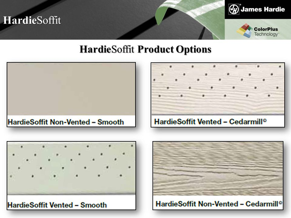 HardieSoffit Product Options