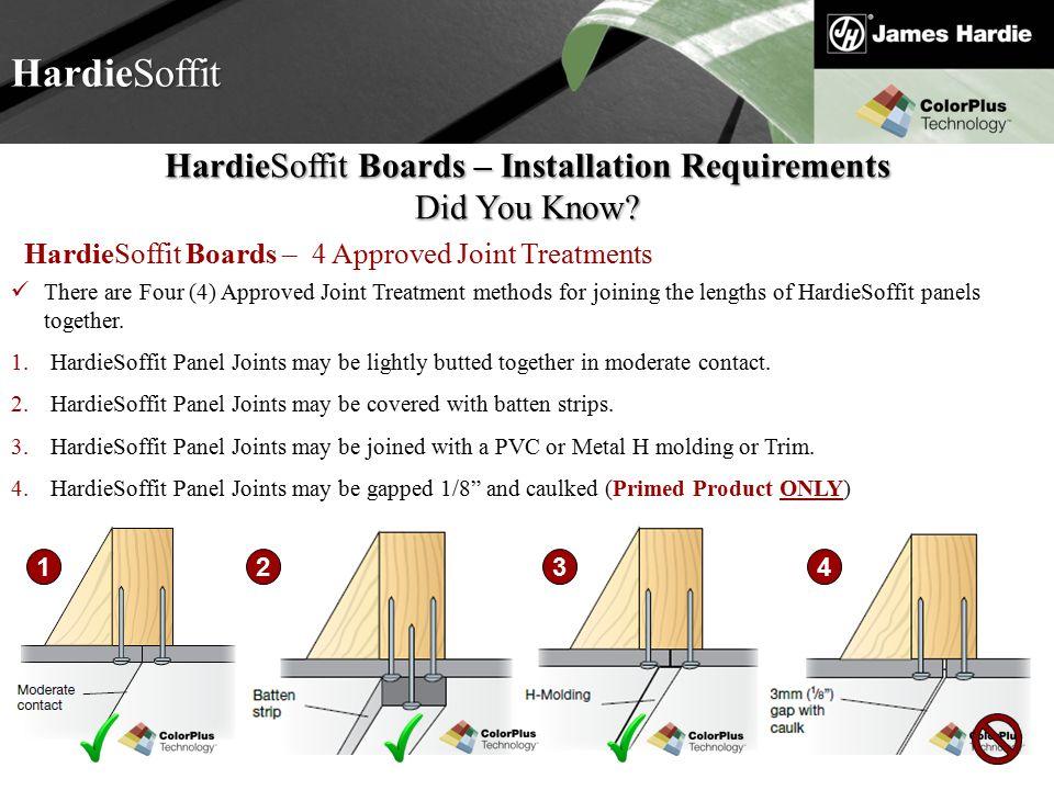 HardieSoffit Boards – Installation Requirements