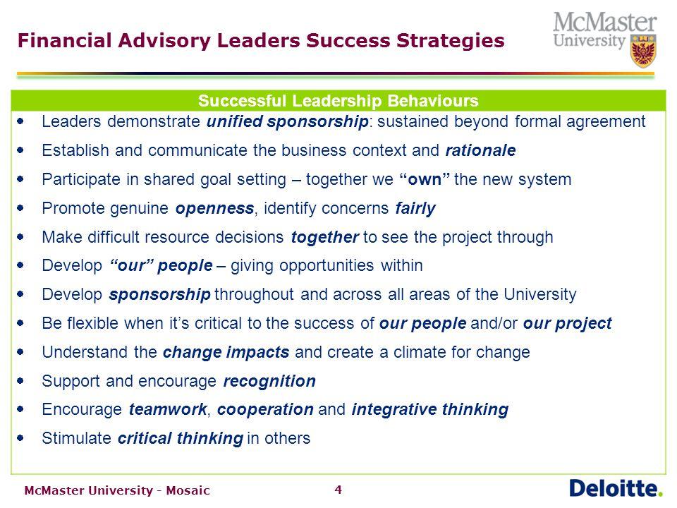 Mosaic Change Strategy