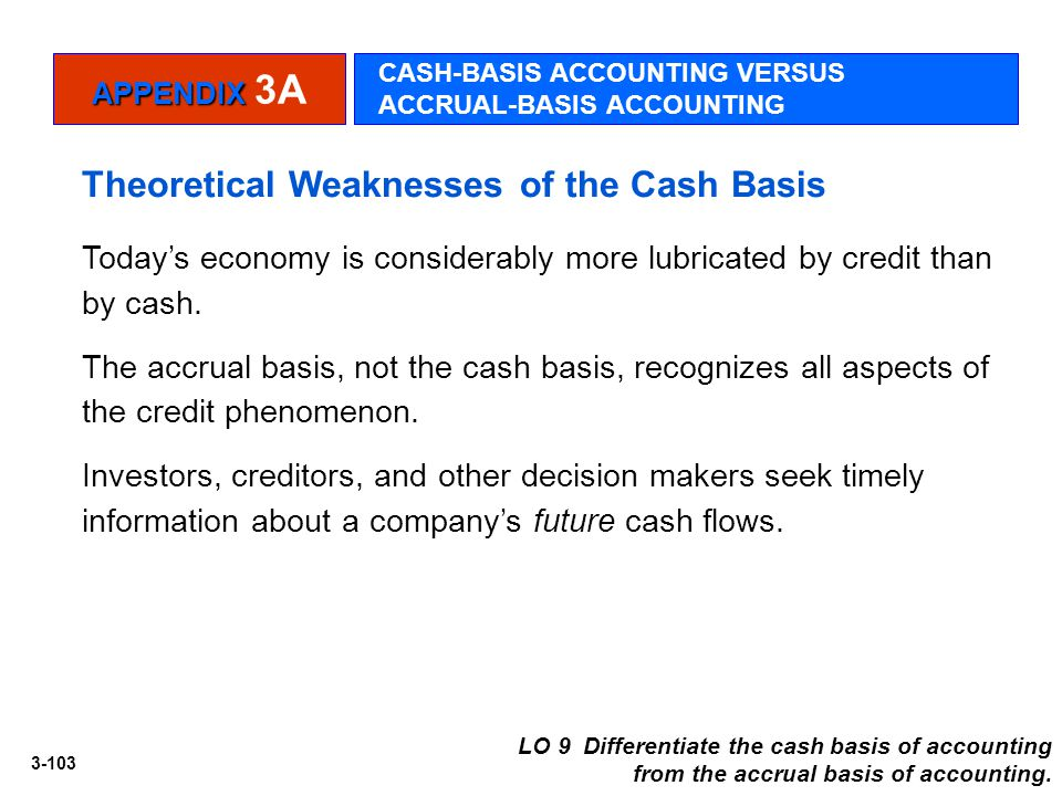 Theoretical Weaknesses of the Cash Basis