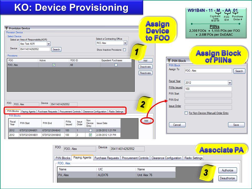 KO: Device Provisioning
