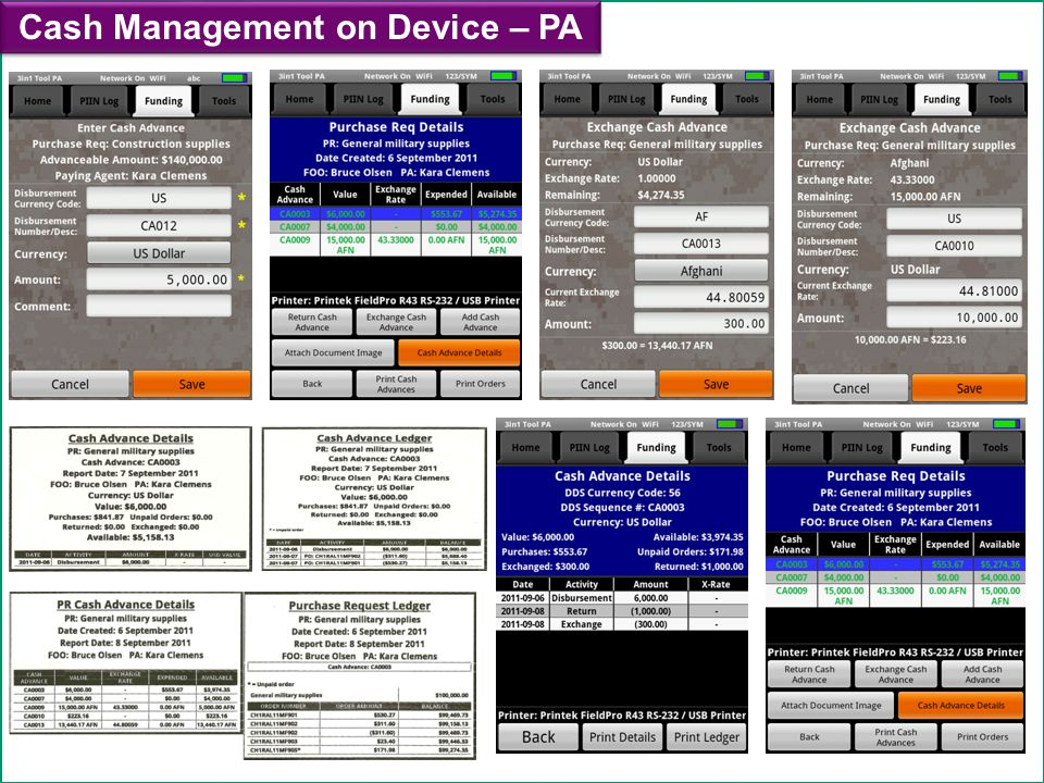 Cash Management on Device – PA