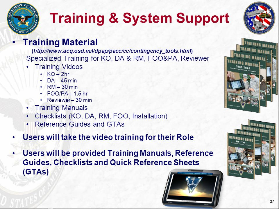 Training & System Support