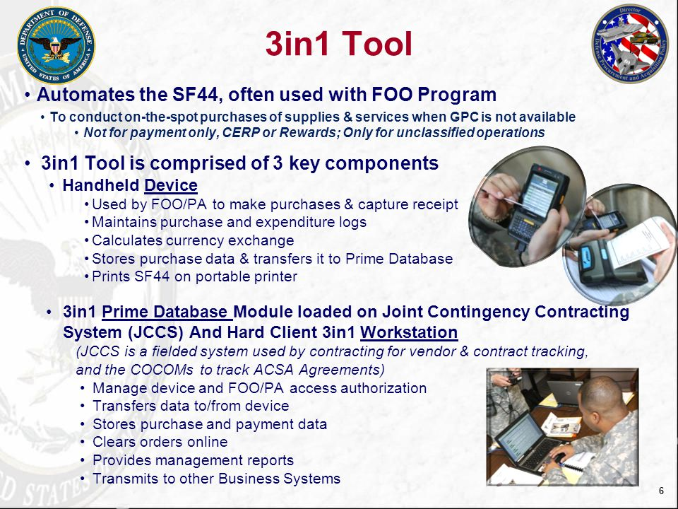 3in1 Tool Automates the SF44, often used with FOO Program