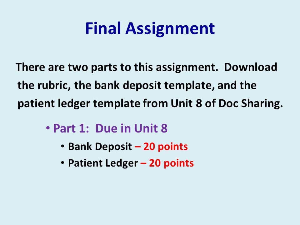 Final Assignment Part 1: Due in Unit 8