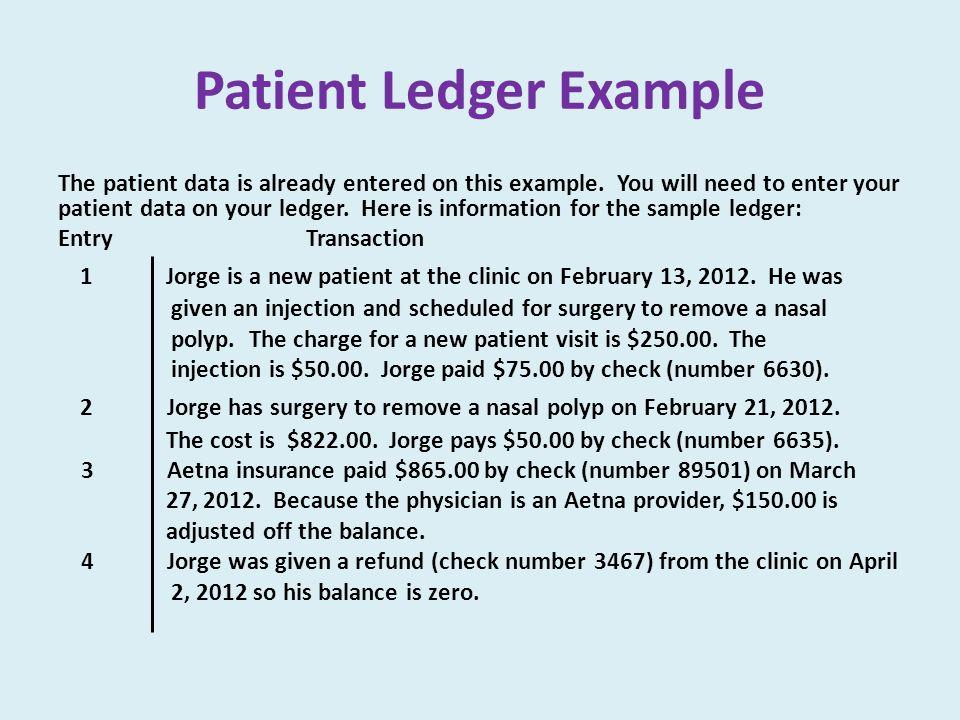 Patient Ledger Example